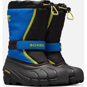 Sorel Flurry Saappaat Nuoret, black/super blue